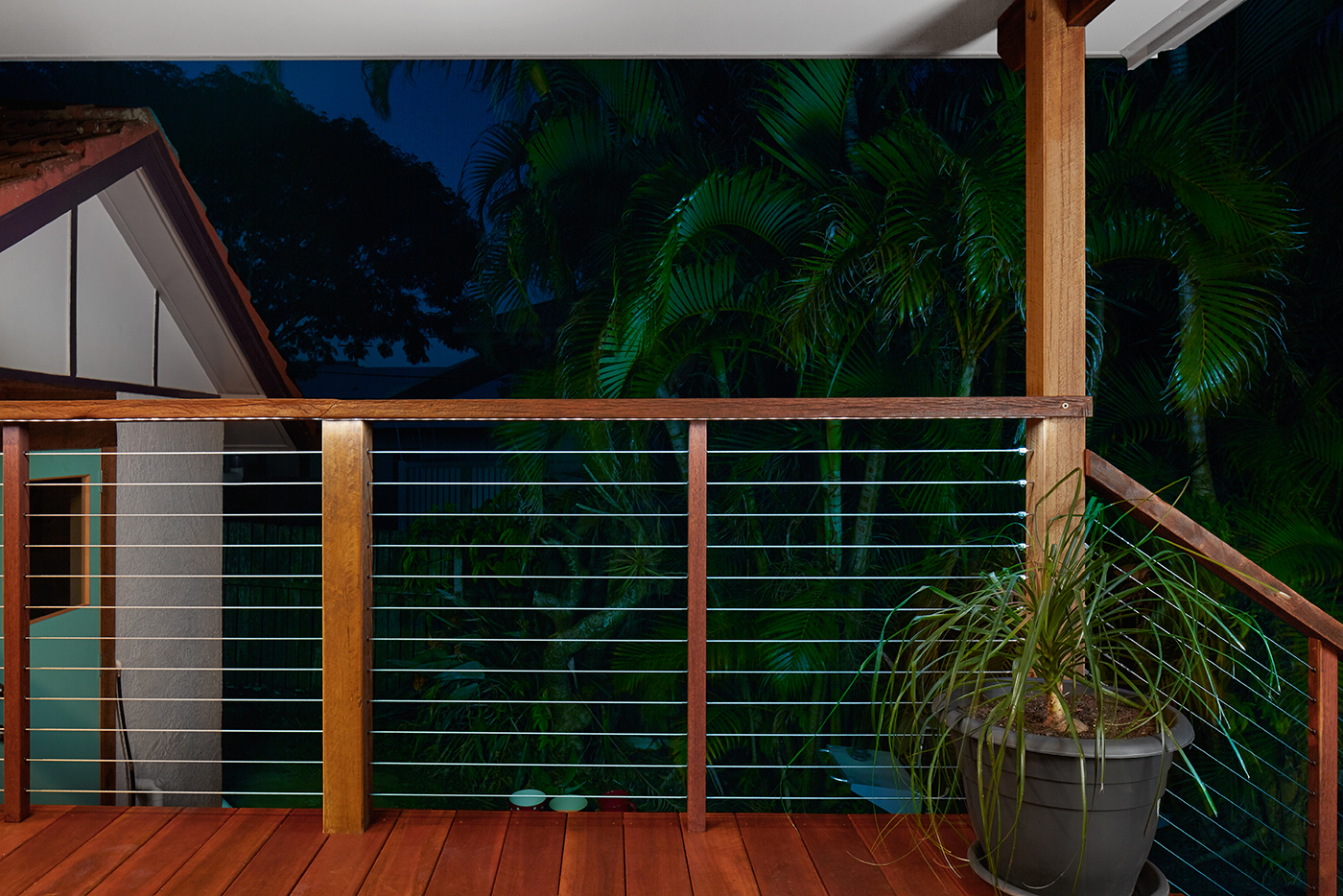 deck with plant