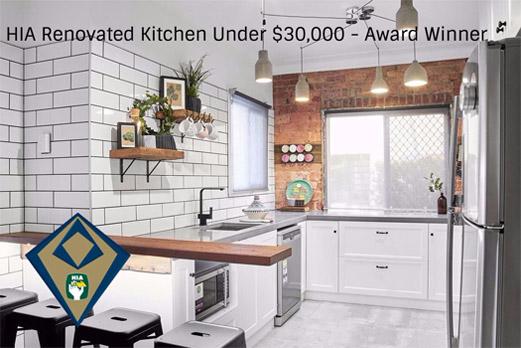 2017 HIA Kitchen Renovation Under $30,000 Award Winner