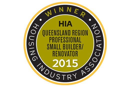 Housing Industry Association Queensland Small Building Company 2015 – Winner